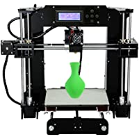 Anet A6 3D Printer DIY Kit Set with High Precision Self Assembly Big Size Heatbed, 2004 LCD Screen Display, TF Card Off-line Printing Function (220 x 220 x 250mm)