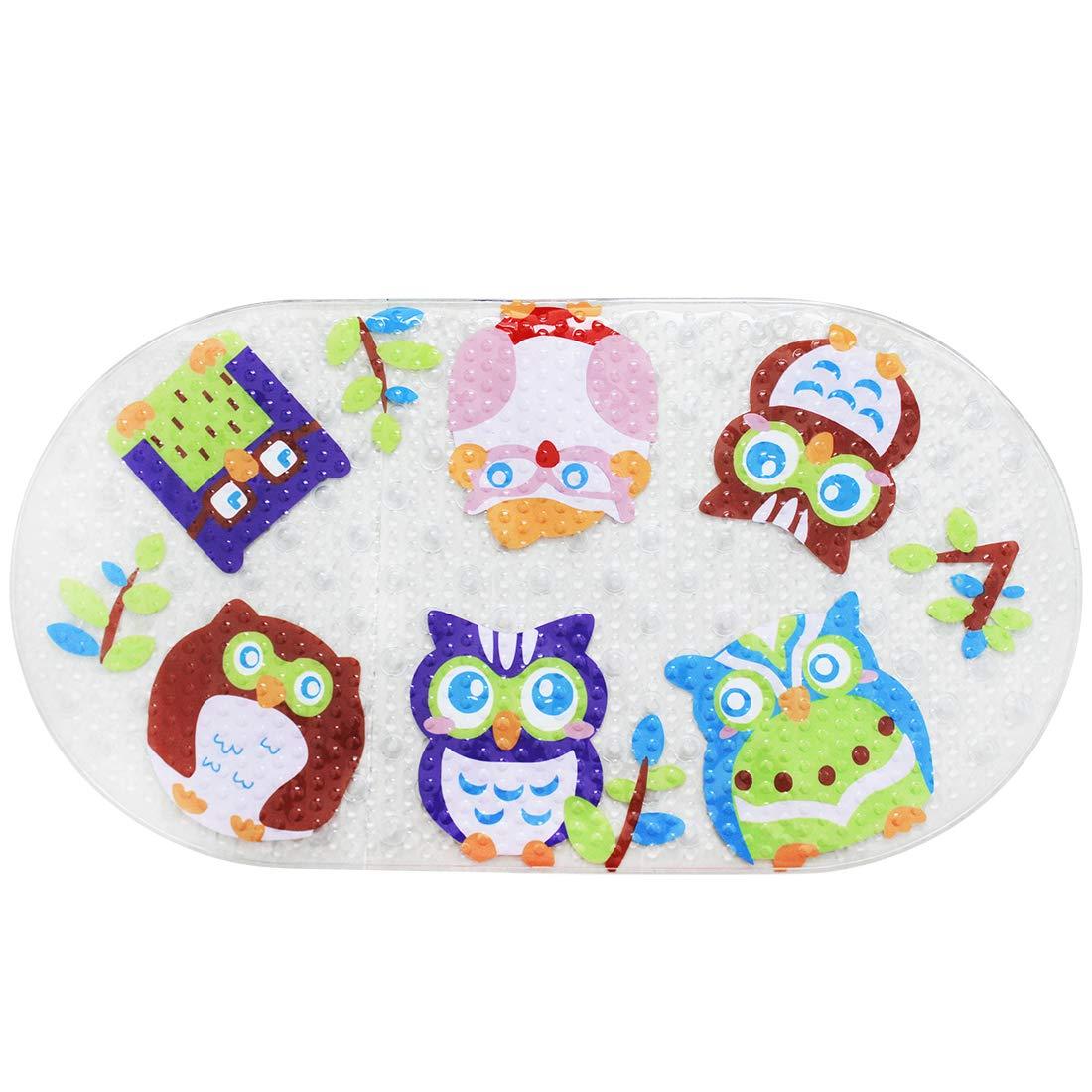 Ainko Kids No-Slip Bath Mat for Tub Baby Anti-Slip Shower Mat,Cool Slip Resistant Bathroom Floor Bathtub Mats Lulutus
