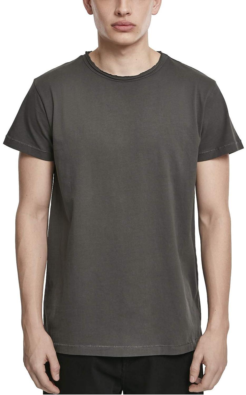 Urban Classics Pigment Dye High Low Tee TB2884 Streetwear Shirts Uomo
