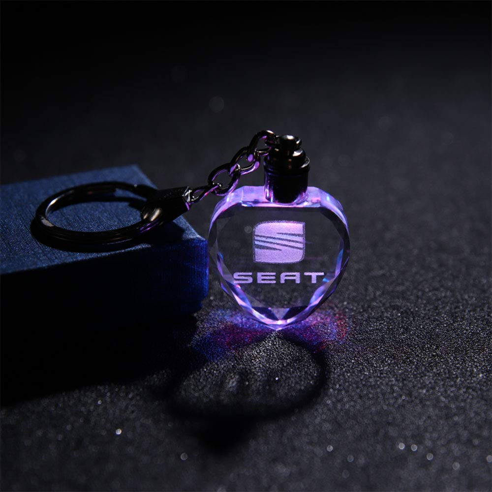 Fitracker - Llavero con logo de coche en forma de corazón ...