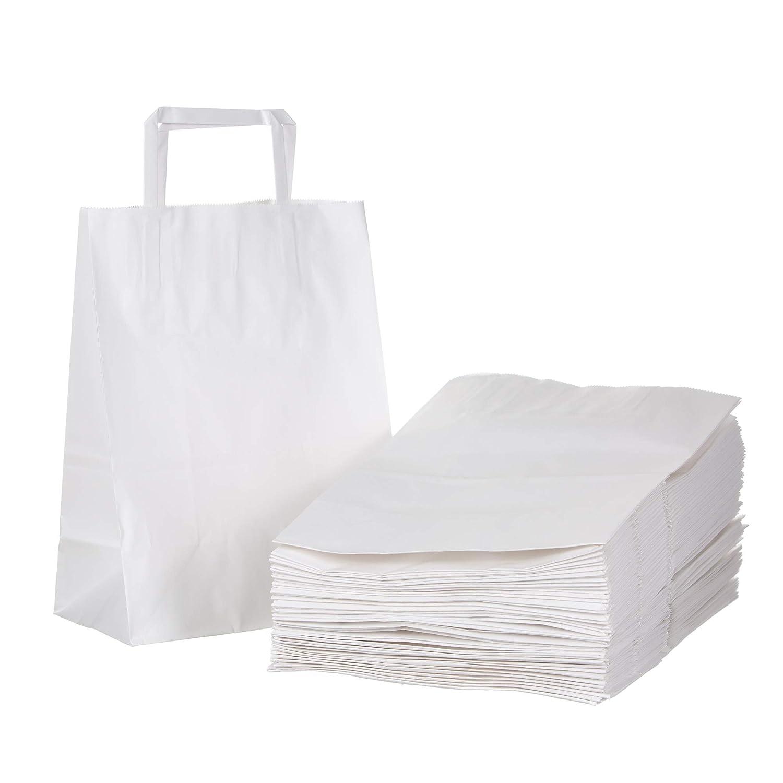 Amazon.com: Bolsas de regalo de papel kraft blanco a granel ...