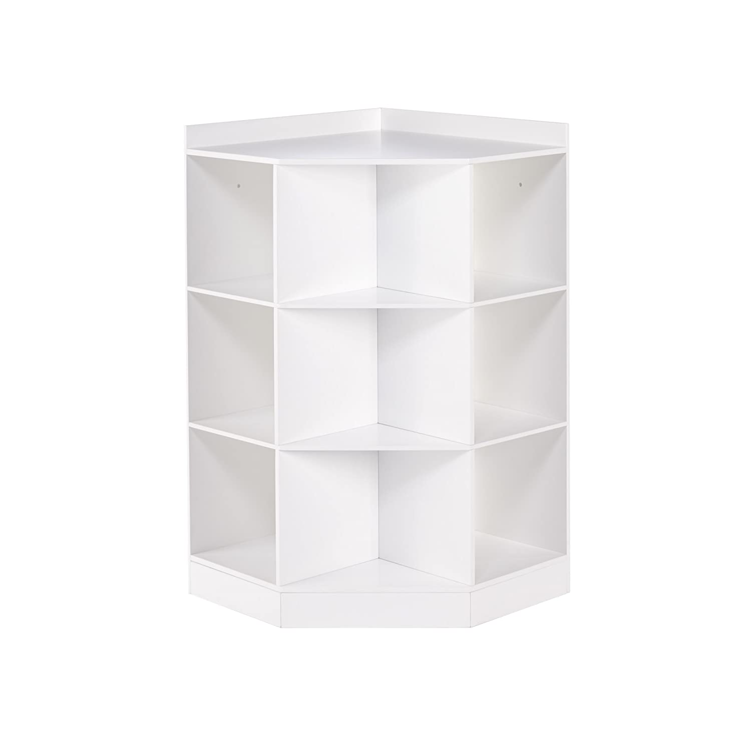 RiverRidge 02-144 6-Cubby, 3-Shelf Kids Corner Cabinet, White