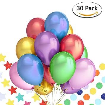 Pushingbest decoración cumpleaños, 6 Pompones de Papel de ...