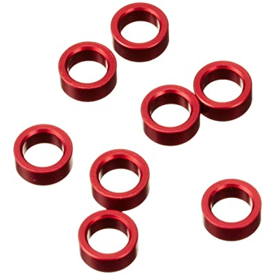 Traxxas 5133 Red-Anodized Aluminum Pushrod Spacers (set of 8): Toys & Games