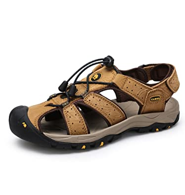 Men's RV Performance Closed Toe Sandal Color Yellow Size 38 M EU