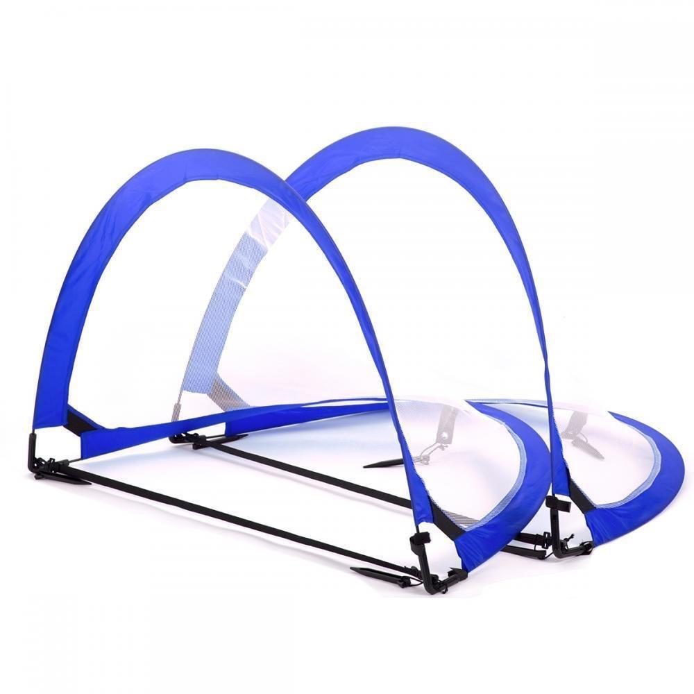2つポータブルSoccer Nets with Carryバッグ、ポータブルポップアップサッカー目標Bestマッサージ B076Q6MVJM