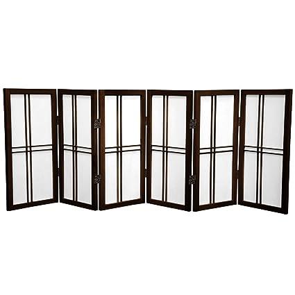 Awe Inspiring Buy 6 Panel Walnut Oriental Furniture 2 Ft Tall Desktop Interior Design Ideas Tzicisoteloinfo