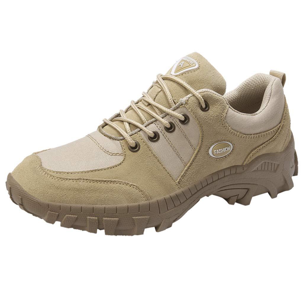 Men's Hiking Shoe Low-top Camping Backpacking Shoes Non-Slip Outdoor Sneakers Khaki