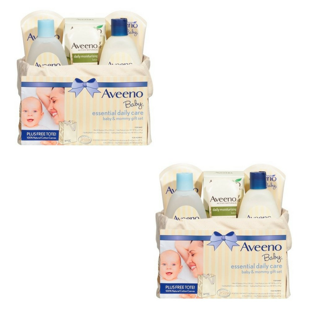 Aveeno Baby Mommy & Me Gift Set, Baby Skin Care Products (2 PACK)