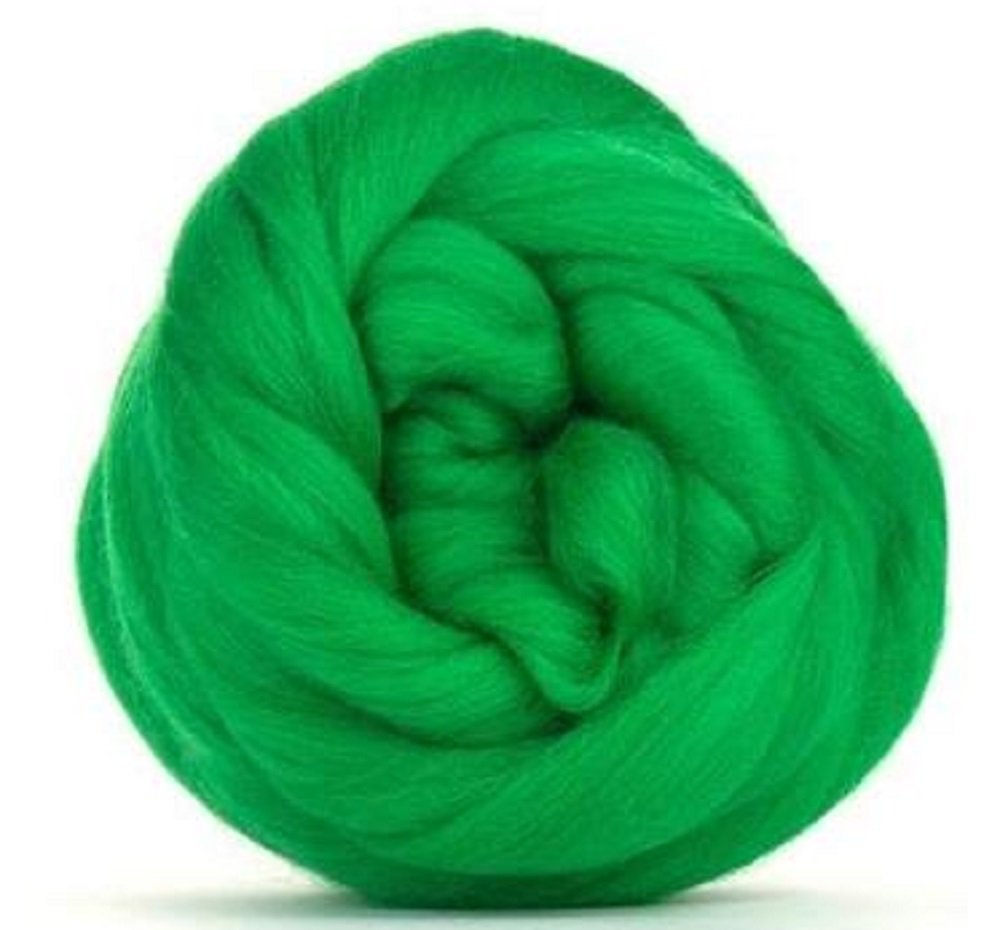 4 oz Paradise Fibers 64 Count Dyed Emerald (Green) Merino Top Spinning Fiber Luxuriously Soft Wool Top Roving for Spinning with Spindle Or Wheel, Felting, Blending and Weaving