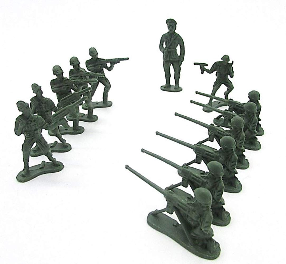 Multiple Styles Mini Combat Army Mercenary Trooper Military Men 144 PCS Green Toy Cubby Miniature Toy Soldier Figure Statues