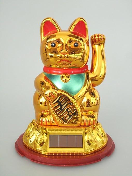 """SOLAR - de la suerte """"grande"""" gato dorado"""