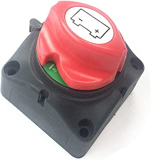 Qiorange Battery Isolator Switch 12V/24V/48V Removable Knob Battery Power Cut Off Switch Battery Disconnect Switch for Car Truck Boat Van Automotive Electronics Electrical Products (D Type 1pcs)