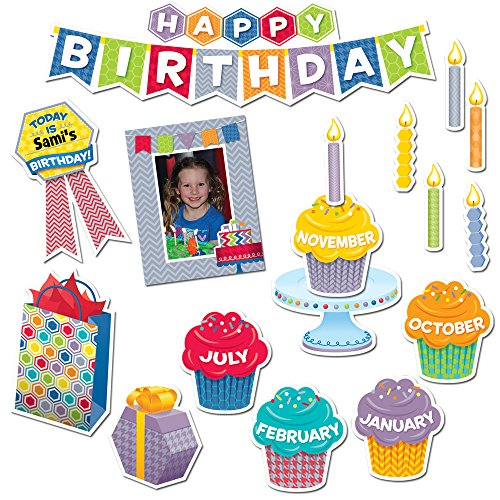 Creative Teaching Press HexaFun Happy Birthday Mini Bulletin Board Set (6958)