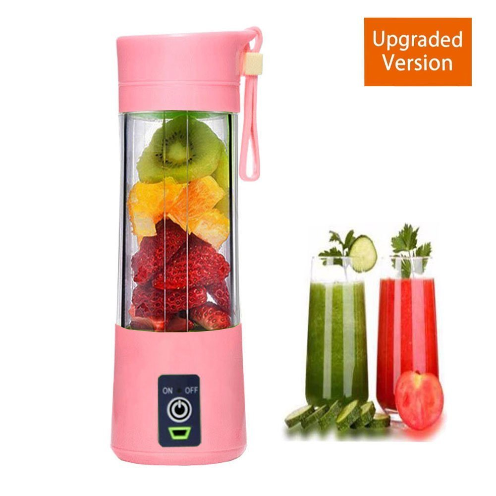 Household Electric Juicer Portable Rechargeable Juice Blender Personal Juice Extractor with USB JU-JC01 (Blue) JUNEO