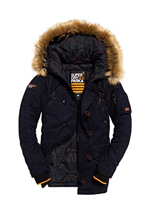 37da0a7a143d60 Superdry Men's SDX Parka Jacket, Blue, X-Large at Amazon Men's Clothing  store: