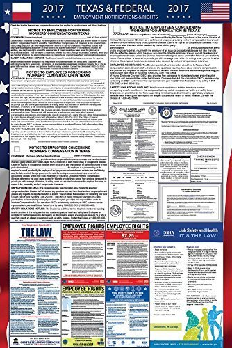 2017 Texas and Federal Labor Law Poster Laminated