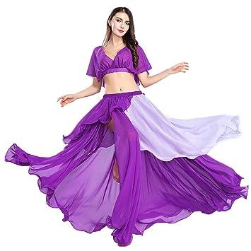 ROYAL SMEELA Danza del Vientre Disfraz de Falda para Mujer La ...
