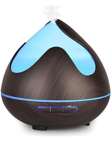 InnooCare 300ml Difusores de aceites Esenciales,Humidificador Eléctrico Ultrasónico con 7 Colores LED, Apagado