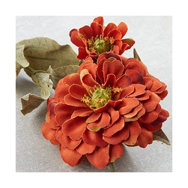 Factory-Direct-Craft-Group-of-10-Artificial-Rustic-Orange-Colored-Zinnia-Floral-Sprays-for-Crafting-Creating-and-Embellishing