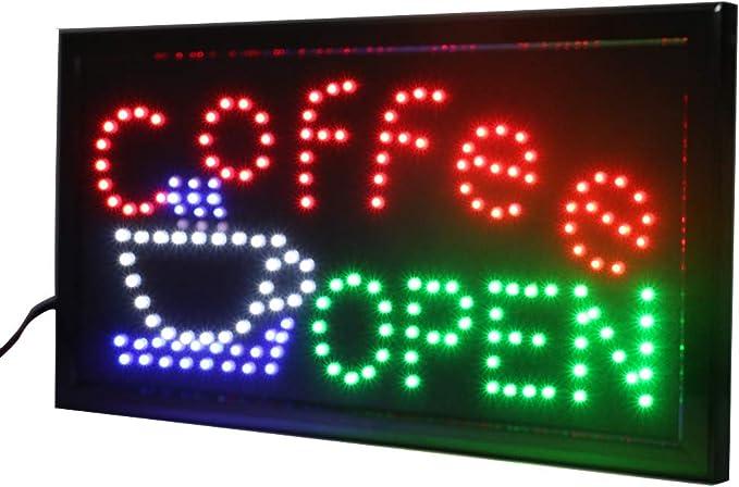 Amazon.com: Letreros de café LED para negocios – Carteles ...