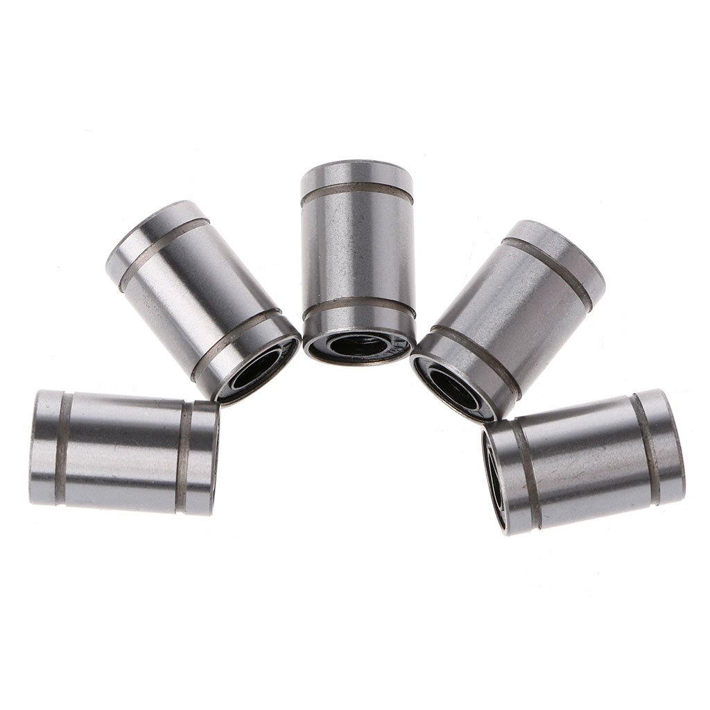 JUNESUN 5 Teile//Satz LM6UU 6mm Welle CNC Linearlager Kugelbuchse 6x12x19mm F/ür 3D Drucker
