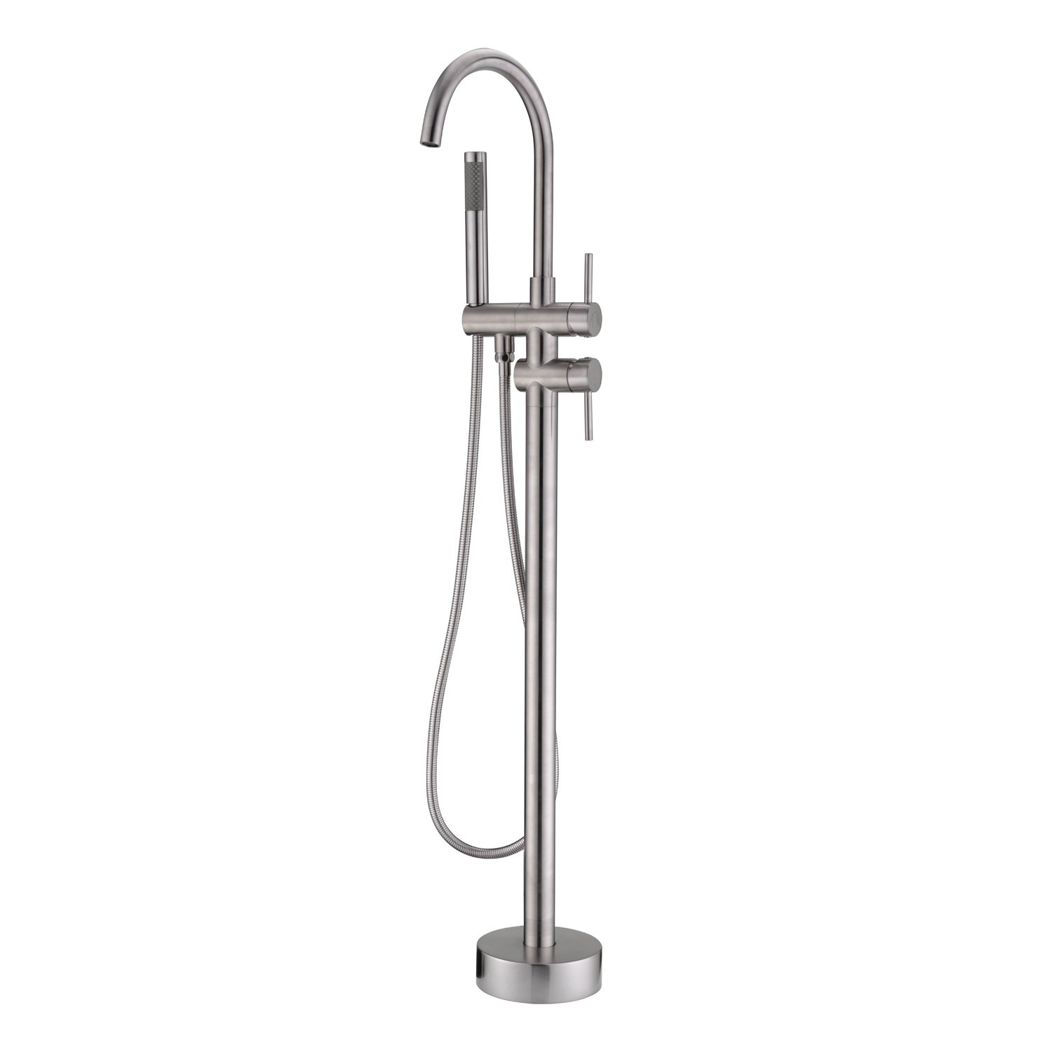 Artiqua Freestanding Tub Filler Bathtub Faucet Brushed Nickel Floor