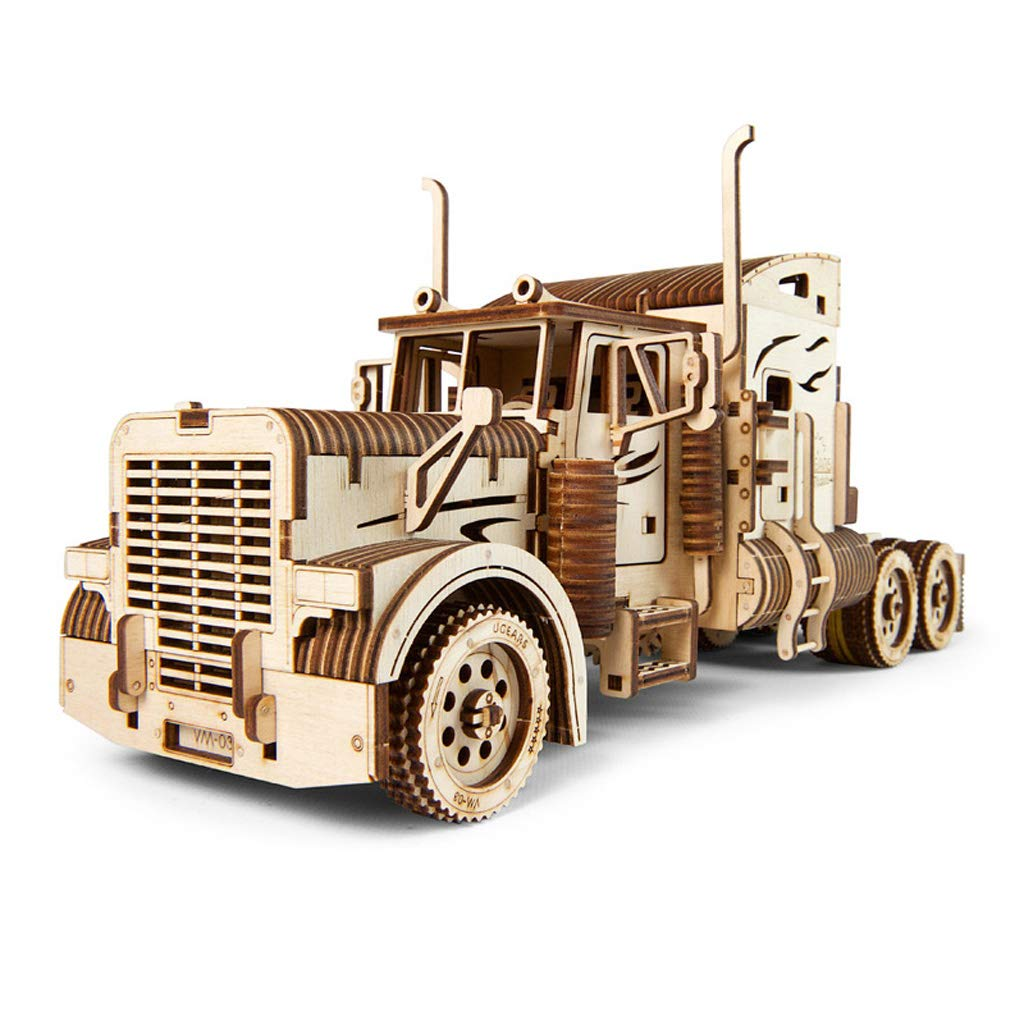 AX- model toy Modelo de camión Pesado de Rompecabezas 3D ensamblado de Madera / 541pcs 38  13.5  17.8 cm