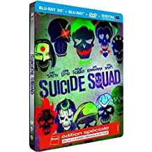 Suicide Squad Edition Spéciale Fnac Steelbook Blu-Ray 3D + 2D + DVD Version longue - inclus le CD de la Bande originale