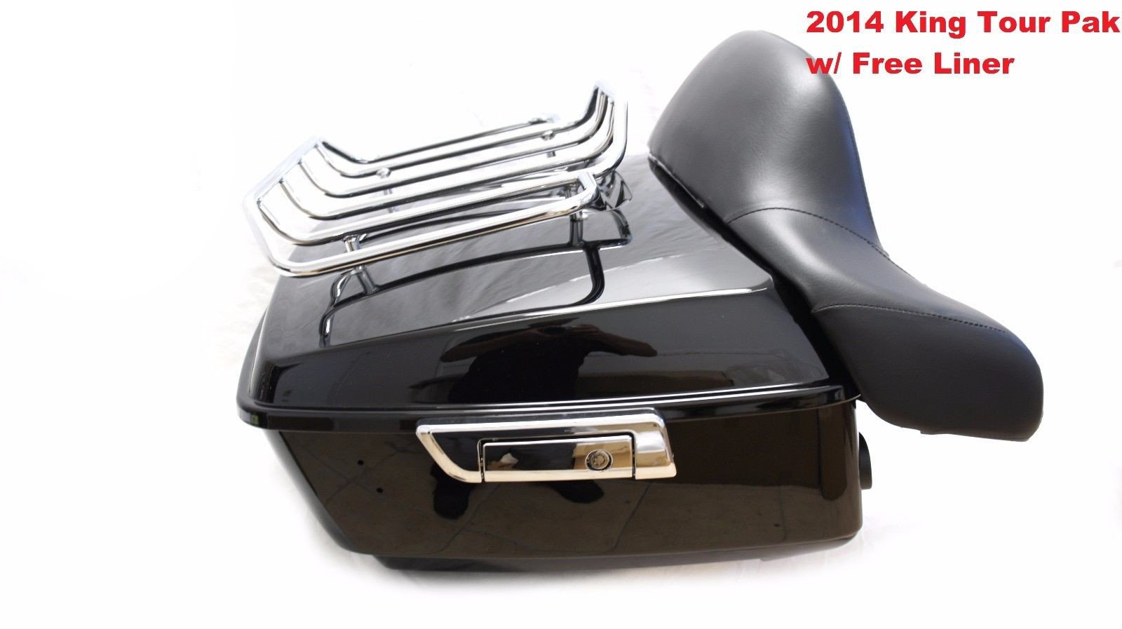King Tour Pak Pack Trunk W/ Rack Backrest For Harley Street Road Glide 2014-2017