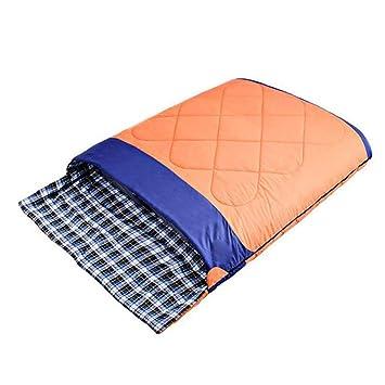 WTDlove Saco de Dormir Dos Personas Pareja Primavera Invierno Espesado el Saco de Dormir al Aire Libre Camping Adulto algodón Saco de Dormir 2800g: ...