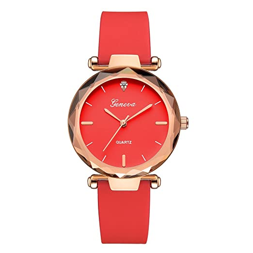 OHQ Reloj Fashion Womens Ladies Watches Geneva Silica Band Reloj De Pulsera De Cuarzo AnalóGico Pulsera Reloj Inteligente Marcar El Reloj Reloj ElectróNico: ...