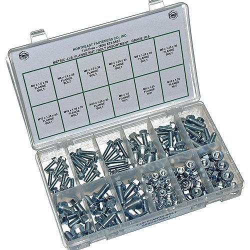 NEF Metric Flange Bolt Assortment, JIS Nuts and Bolts, Plast