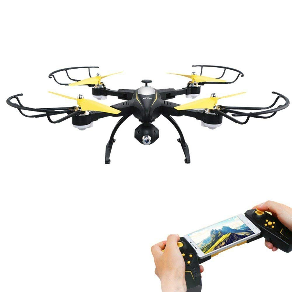 Rabing RC Drone Foldable FPV VR Wifi RC Quadcopter 2.4GHz 6-Axis Gyro Remote Control Drone with 720P HD 2MP Camera Drone (Black)