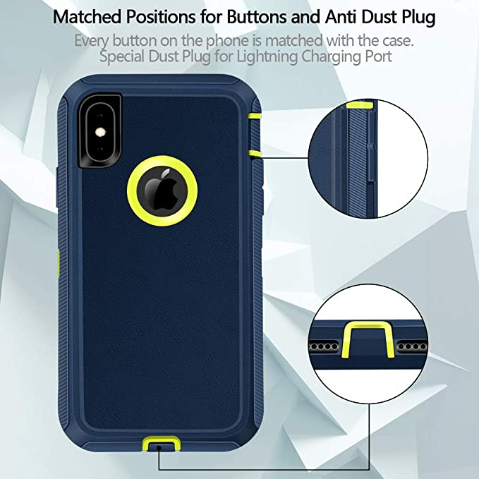 Jiunai iPhone Xs Max Case, Outdoor Sports Heavy Duty Tough Drop Protection  Dual Layer Armor Rugged Cover Case ONLY Compatible with iPhone Xs Max 10s