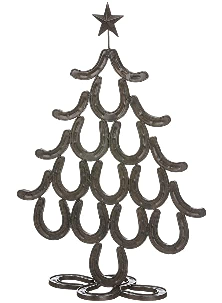Horseshoe Christmas Tree.Amazon Com Sullivans Reindeer Ranch Horseshoe Western