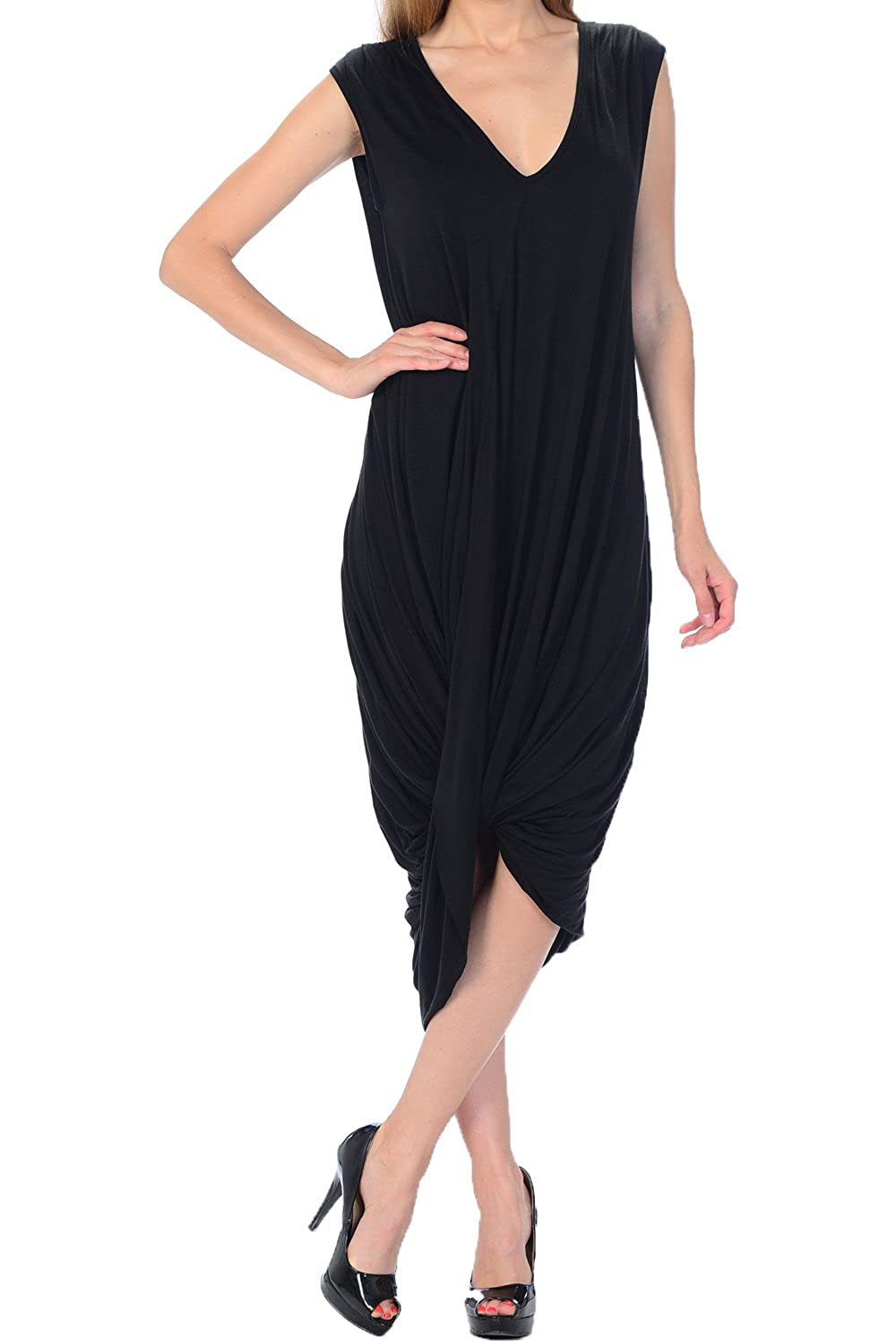 Women's Draped Jersey Dress