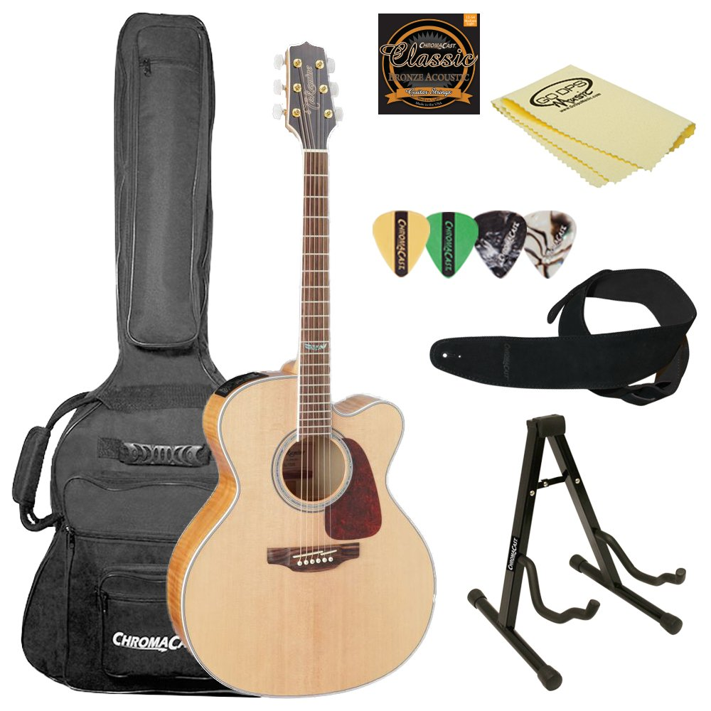 Takamine 6 String Acoustic-Electric Guitar (GJ72CE NAT-KIT-2) by Takamine