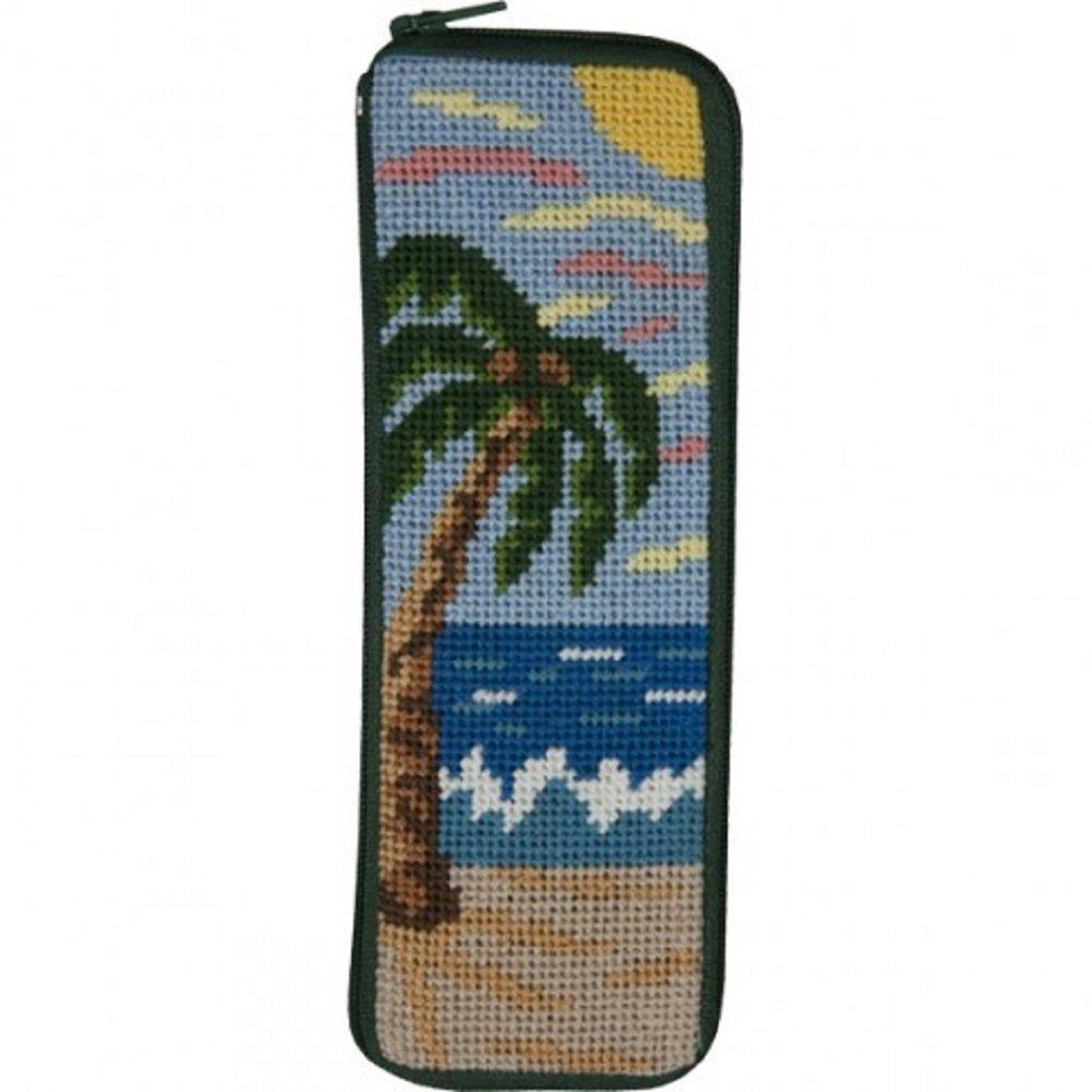 Stitch /& Zip Half Specs Case Needlepoint Kit SZ18 Tropical Beach