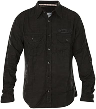 Affliction Rusted Diamond Long Sleeve Woven Button Down Shirt For Men