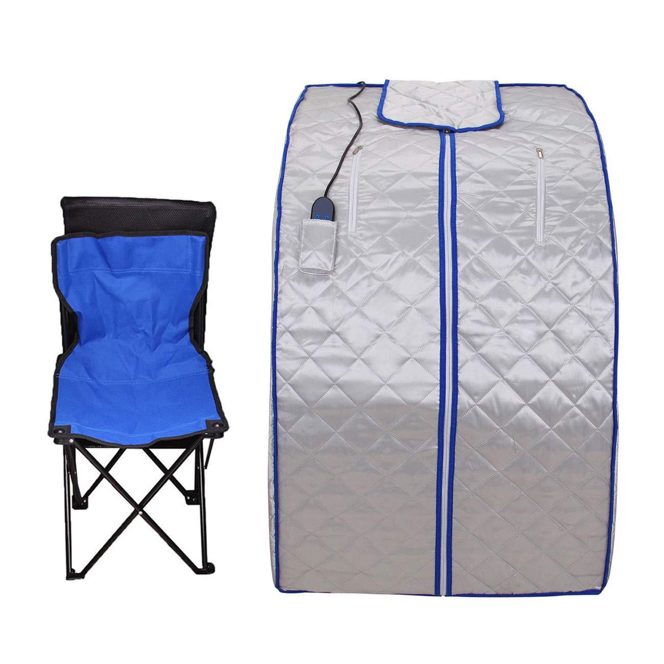 Ridgeyard 600W Portable FIR Far Infrared SPA Sauna Room Weight Loss Detox Tent Foot Heating pad
