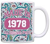 40th Birthday Gift Made 1978 Paisley Birthday Mug Review and Comparison