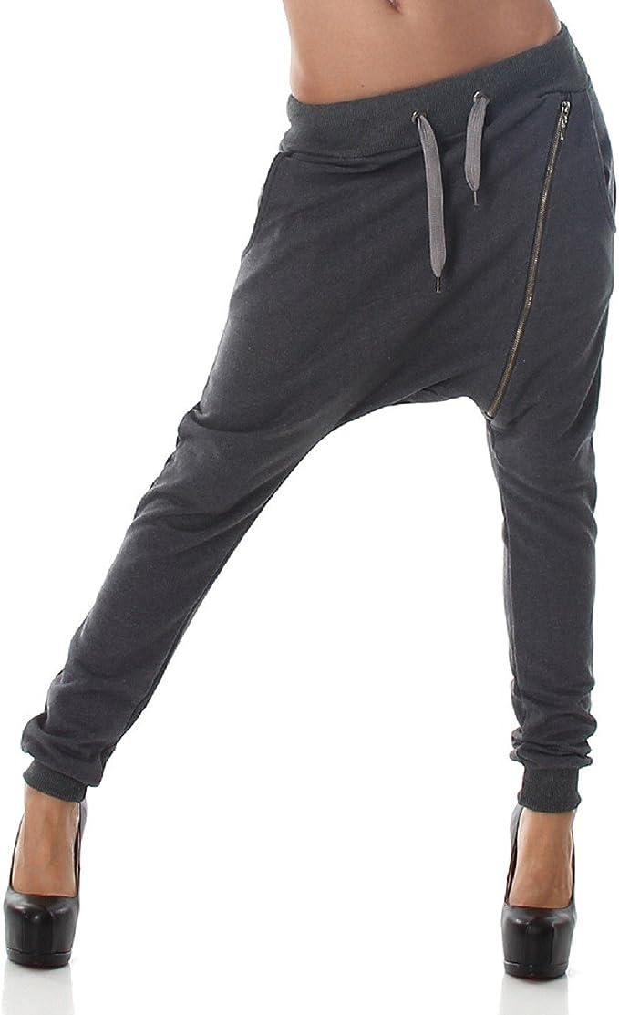 S & B BS7 Pantalón de chándal Casual para Mujer con Cremallera ...