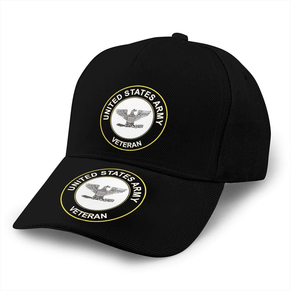 US Army Colonel Veteran Unisex Adult Hats Classic Baseball Caps Peaked Cap