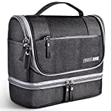 Toiletry Bag Hanging Travel Toiletry Organizer Kit with Hook and Handle Waterproof Cosmetic Bag Dop Kit for Men or Women (Black)