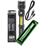 Nebo Slyde King 500 Lumen USB rechargeable LED flashlight/Worklight 6726, rechargeable Li-ion battery with EdisonBright USB p