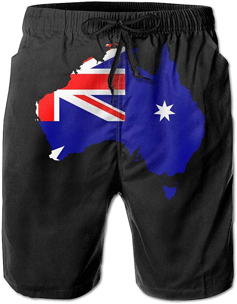 BSKZ@SH Mens Board Shorts Lightweight Australia Map 100/% Polyester Swimwear