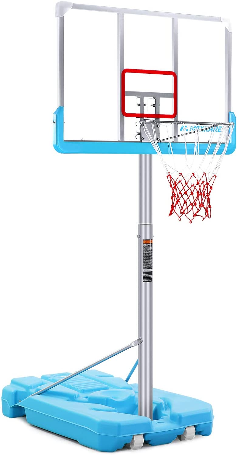 Adjustable Basketball Hoop System Backboard Stand Swimming Pool Water Play Game