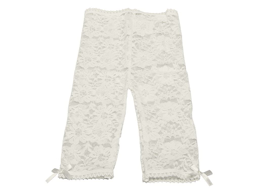Capris-Satin Bows Baby and Toddler Girl-Lace Leggings Tights Soft Non-Scratch Baby Emporio