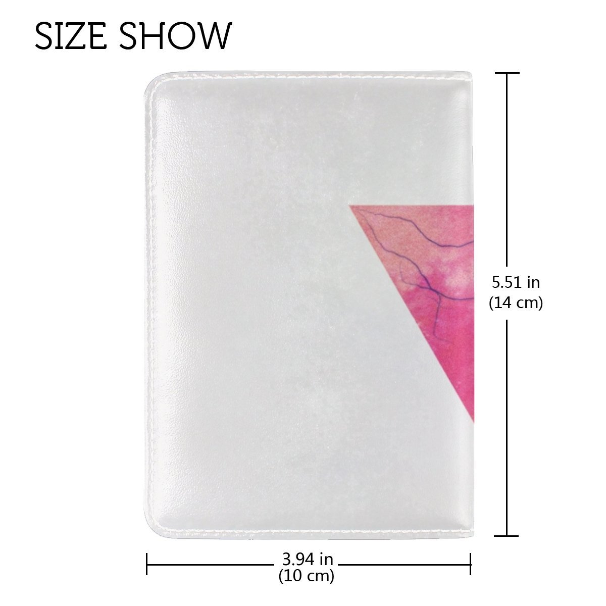 Triangle Minimalism Lightning Veins Leather Passport Holder Cover Case Travel One Pocket